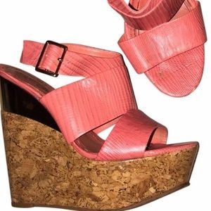 Shoes - Alice and Olivia tangerine wedges size 38.5